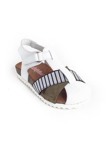 minipicco Minipicco Erkek Cocuk - Deri Ortopedik Destekli Çocuk Sandalet Renkli